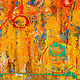 Acrylic painting Circus (Triptych)  30x120 ________(click on the i for info) by Edward Bock