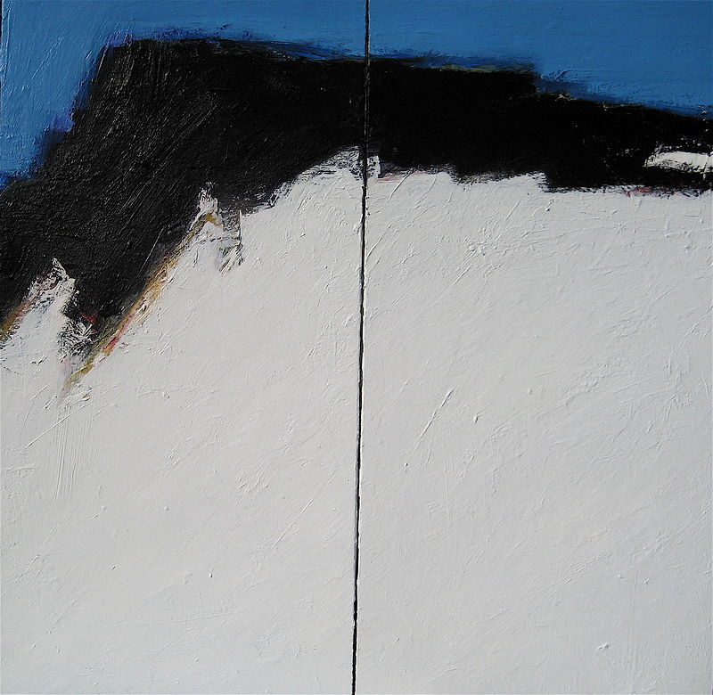 Acrylic painting Black Tusk No. 6 by David Tycho