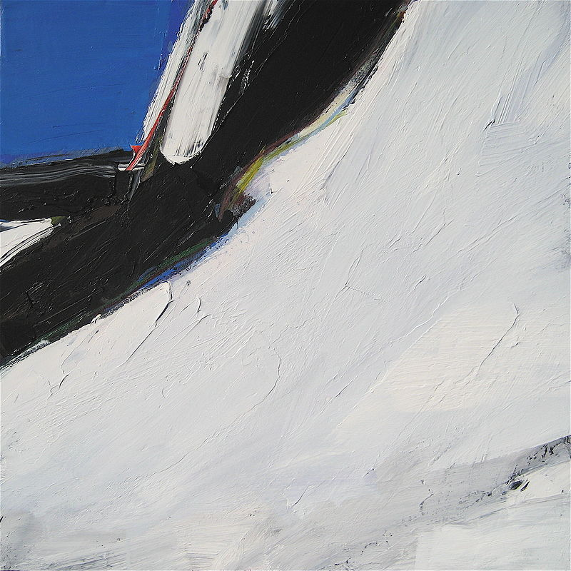 Acrylic painting Black Tusk No. 7 by David Tycho