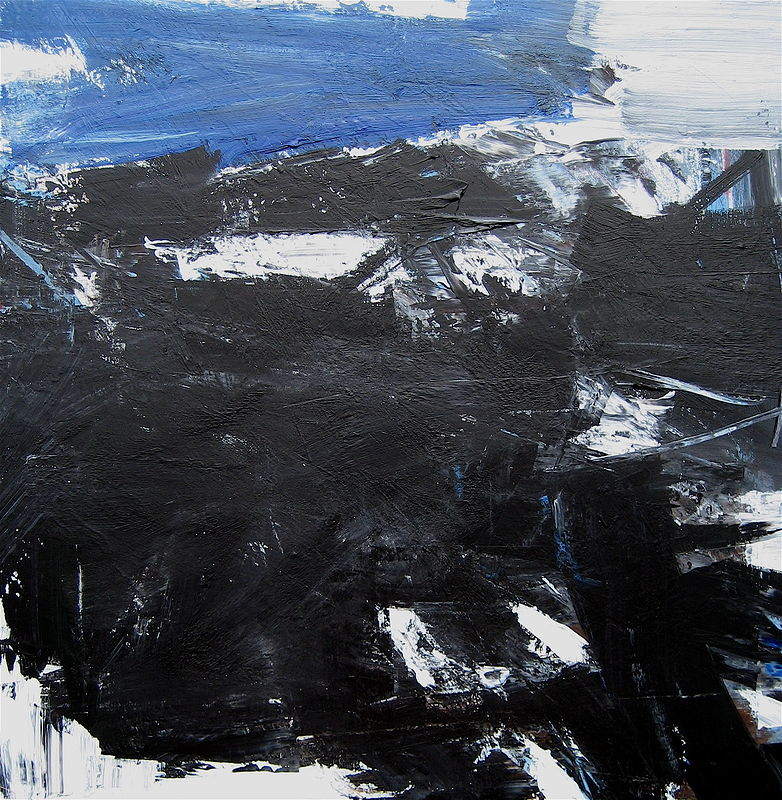 Acrylic painting Black Tusk No. 17 by David Tycho