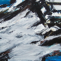 Acrylic painting Black Tusk #21 by David Tycho