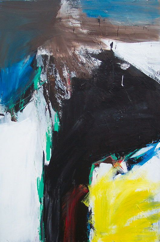 Acrylic painting Black Tusk #22 by David Tycho