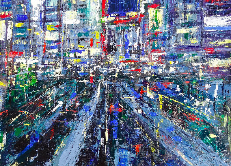 Acrylic painting Shinjuku No. 3 by David Tycho