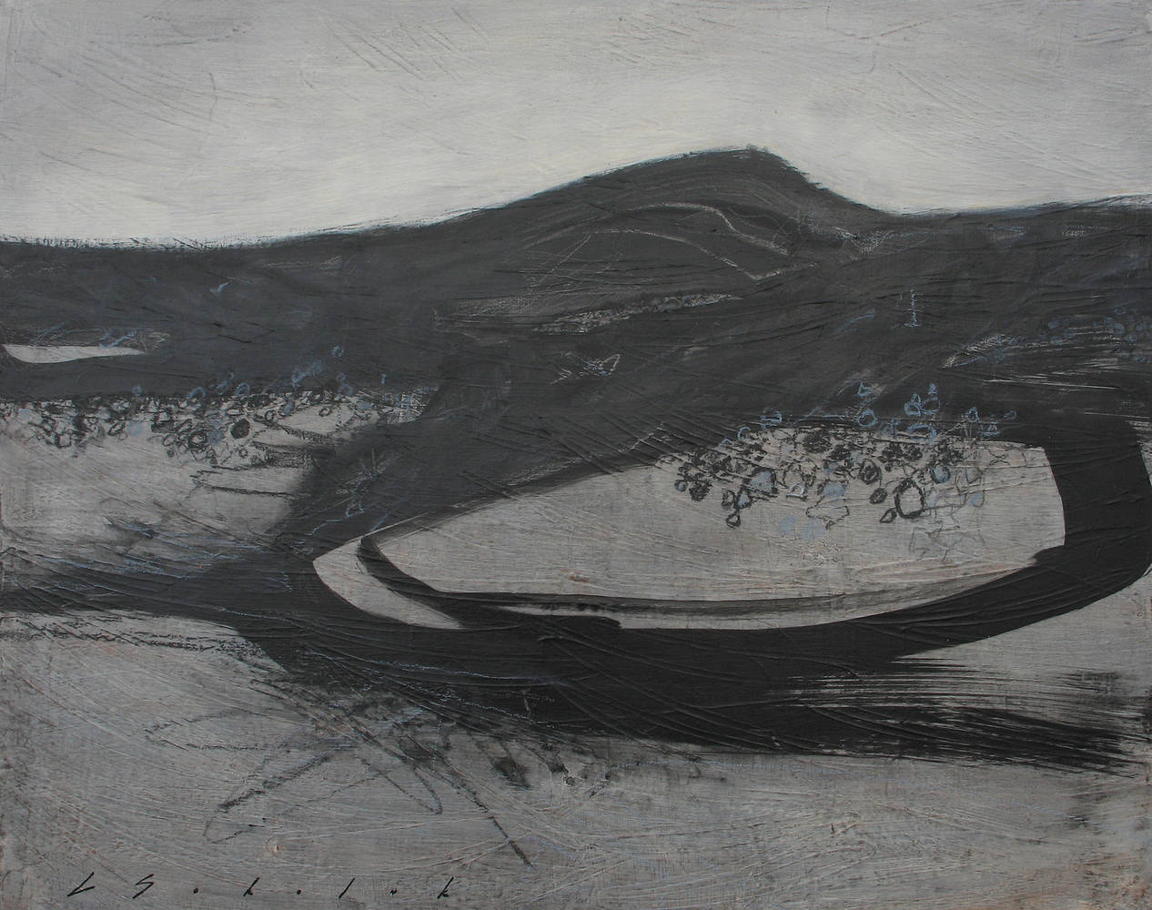 Acrylic painting Black Pool 9 by Lori Sokoluk