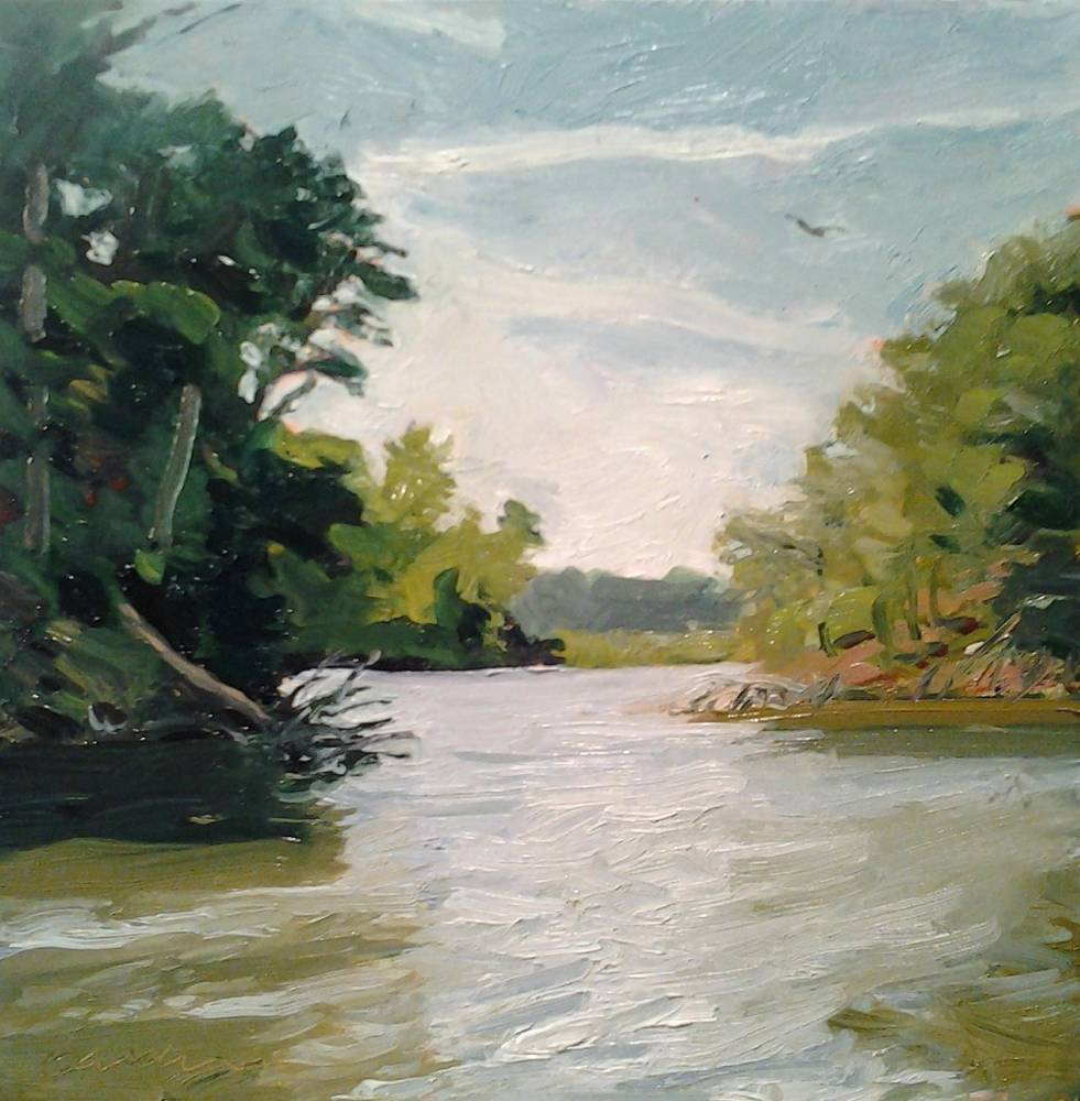 Oil painting fadeley's Landing by Michael  Gaudreau