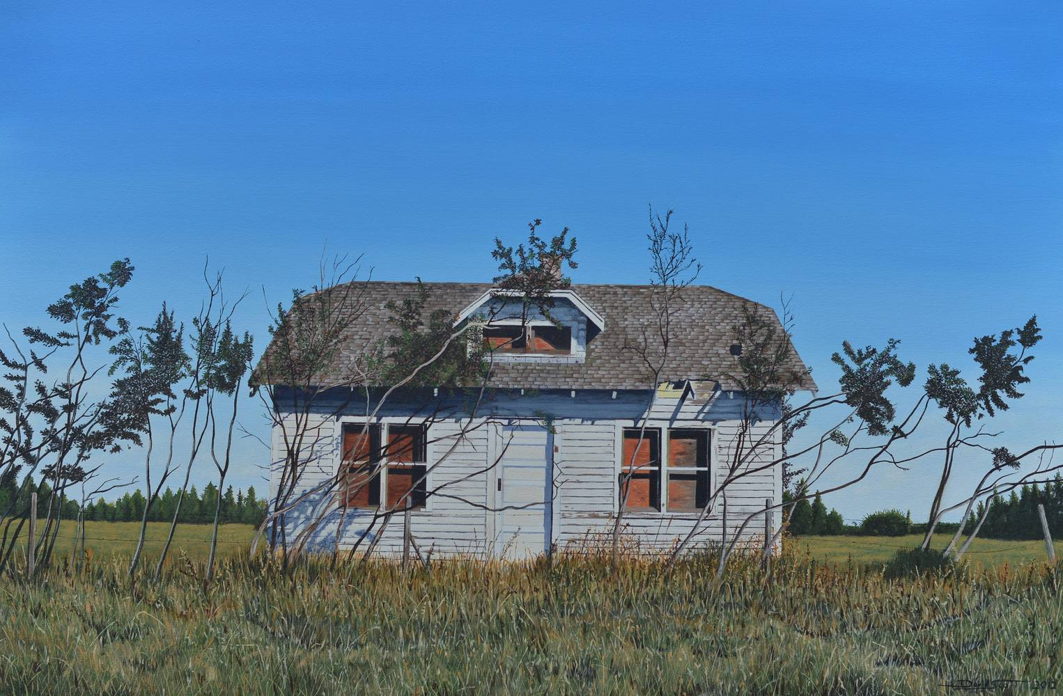Oil painting Abandoned Farmhouse by David B. Scott