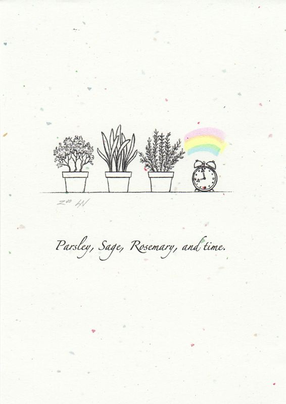 Print Parsley, sage, rosemary, and time. by Sue Ellen Brown