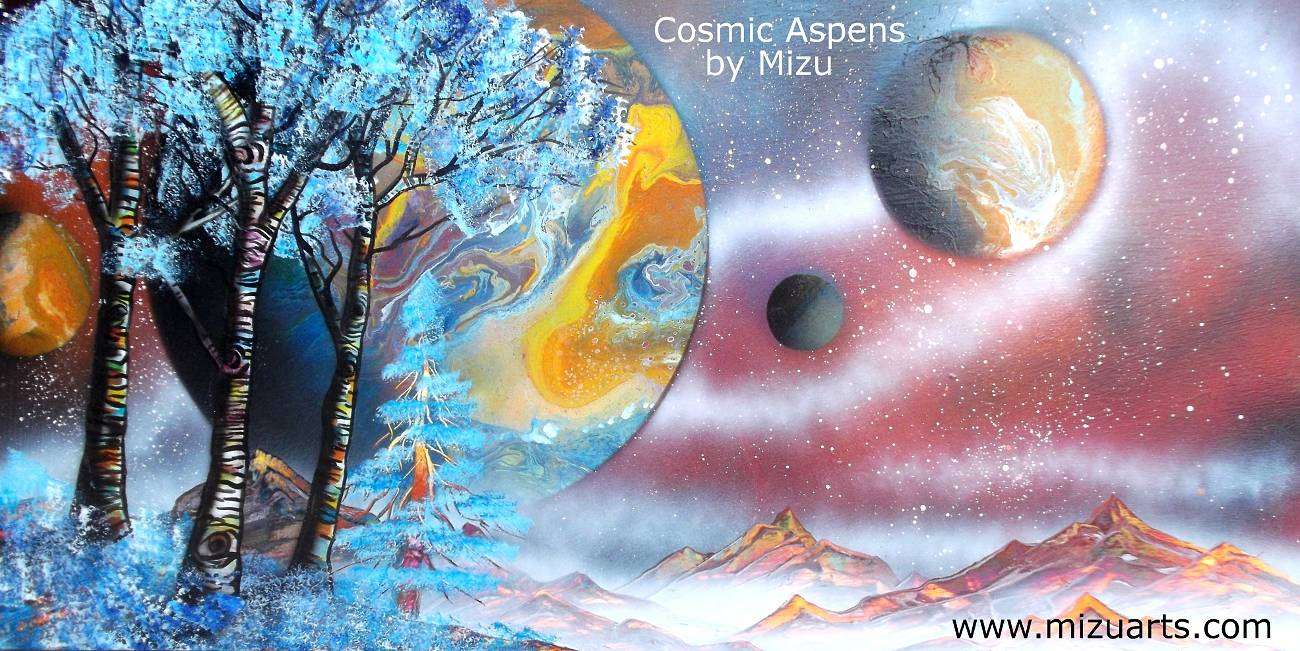 Cosmic Aspens  by Isaac Carpenter