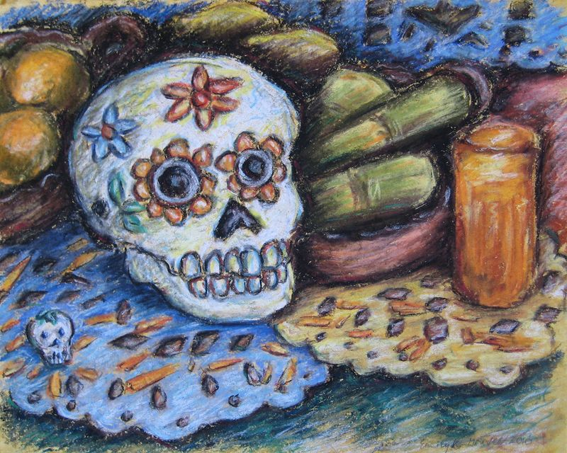 Drawing Ofrenda by Emily K. Grieves