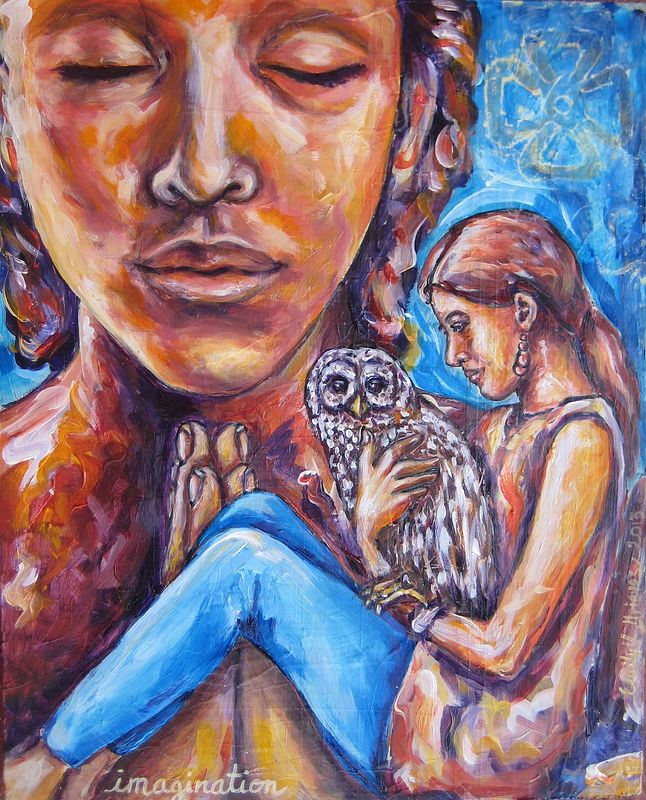 Acrylic painting Imagination by Emily K. Grieves