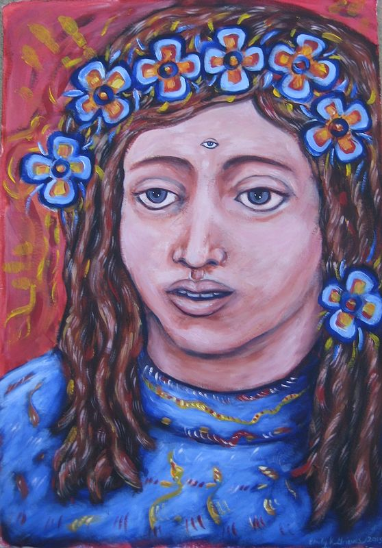 Acrylic painting The Muse of Intuition by Emily K. Grieves
