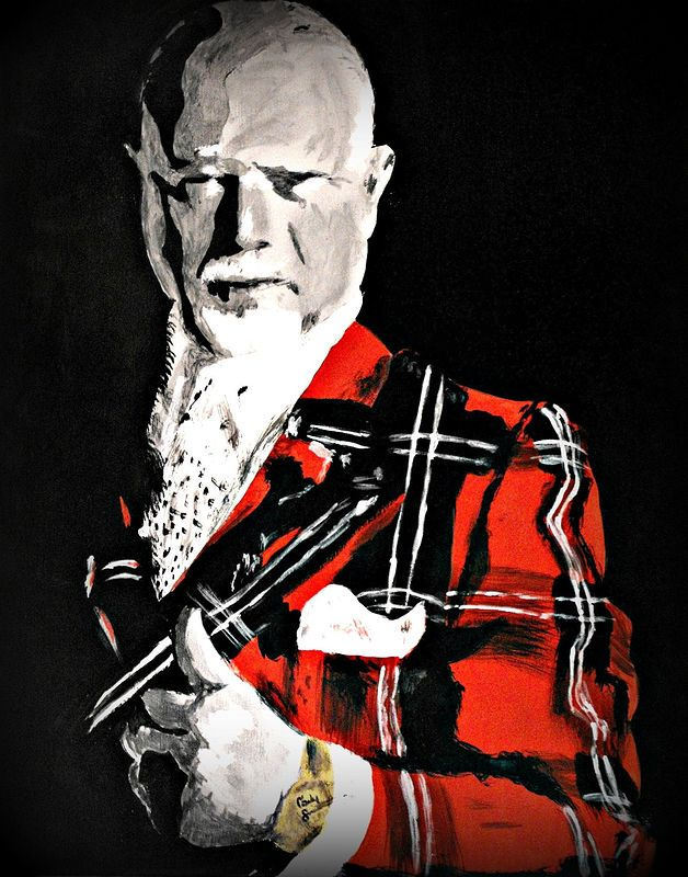 Acrylic painting Don Cherry by Carly Jaye Smith