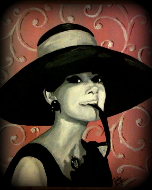 Acrylic painting Audrey Hepburn by Carly Jaye Smith