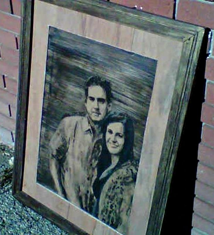 Acrylic painting Mr. & Mrs. Simpart by Carly Jaye Smith