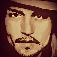 Acrylic painting Johnny Depp by Carly Jaye Smith