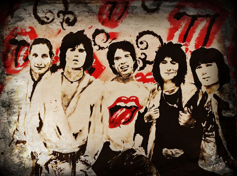 Acrylic painting Like a Rolling Stone by Carly Jaye Smith