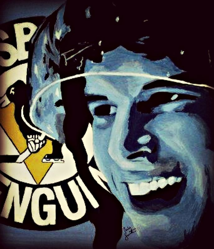 Acrylic painting Sidney Crosby by Carly Jaye Smith