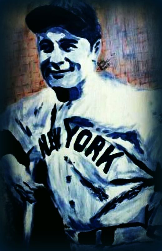 Acrylic painting Lou Gehrig 2012. by Carly Jaye Smith