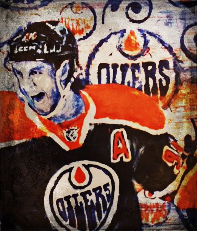 Acrylic painting Ryan Smyth by Carly Jaye Smith