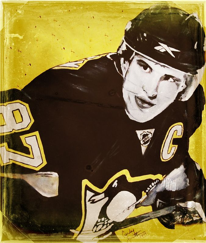 Acrylic painting Crosby by Carly Jaye Smith