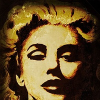 Acrylic painting Marilyn by Carly Jaye Smith