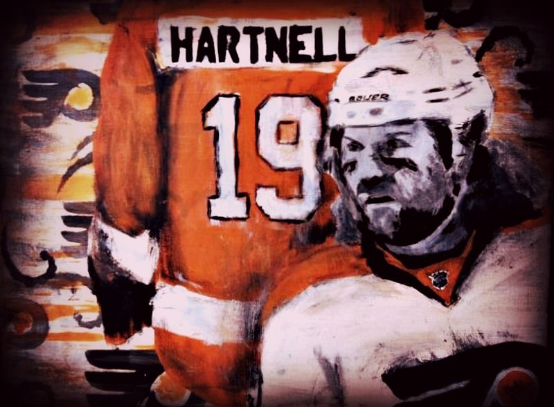 Acrylic painting Scott Hartnell by Carly Jaye Smith