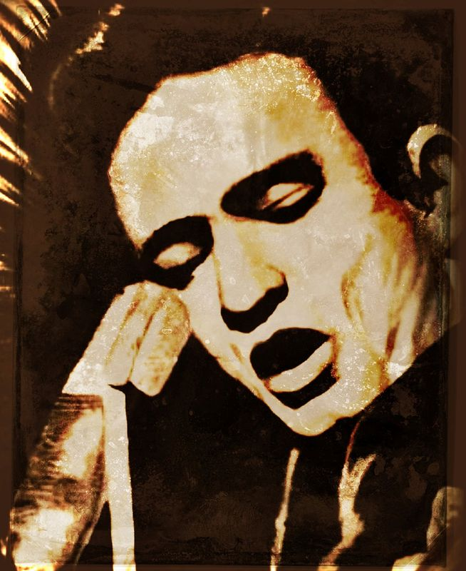 Acrylic painting Johnny Cash by Carly Jaye Smith
