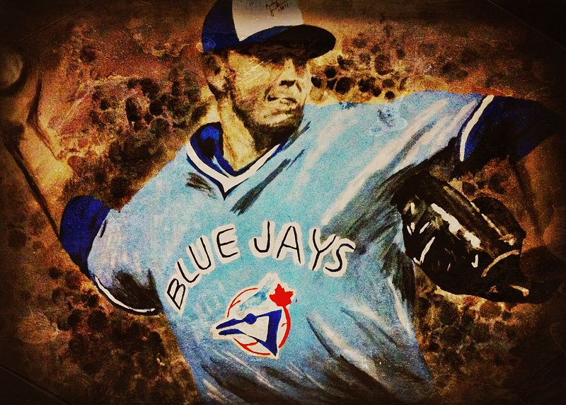 Acrylic painting Roy Halladay by Carly Jaye Smith