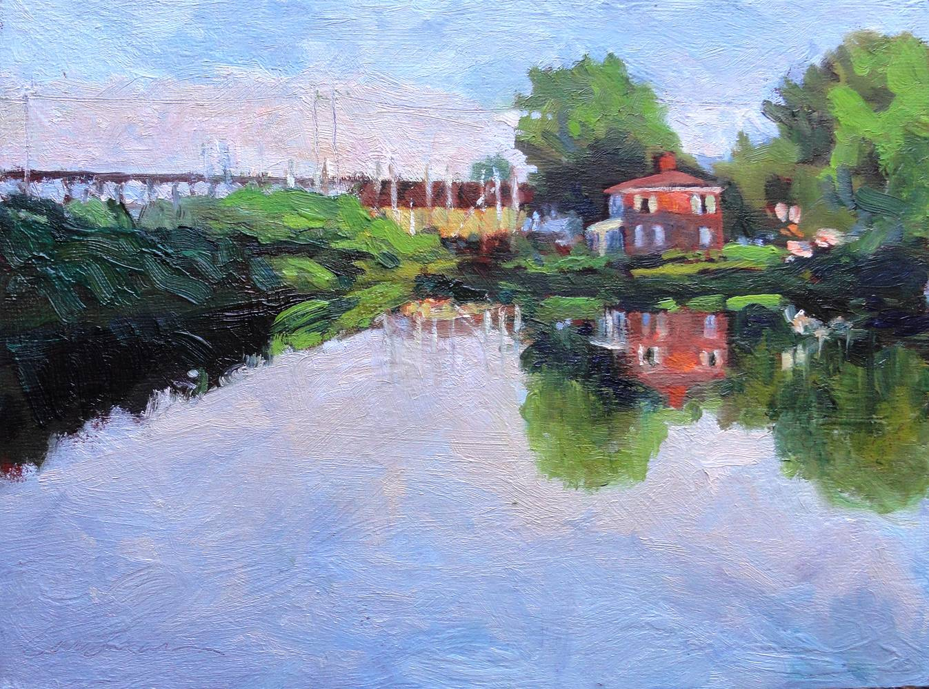 Havre de Grace Lockhouse-9x12in  by Michael Gaudreau