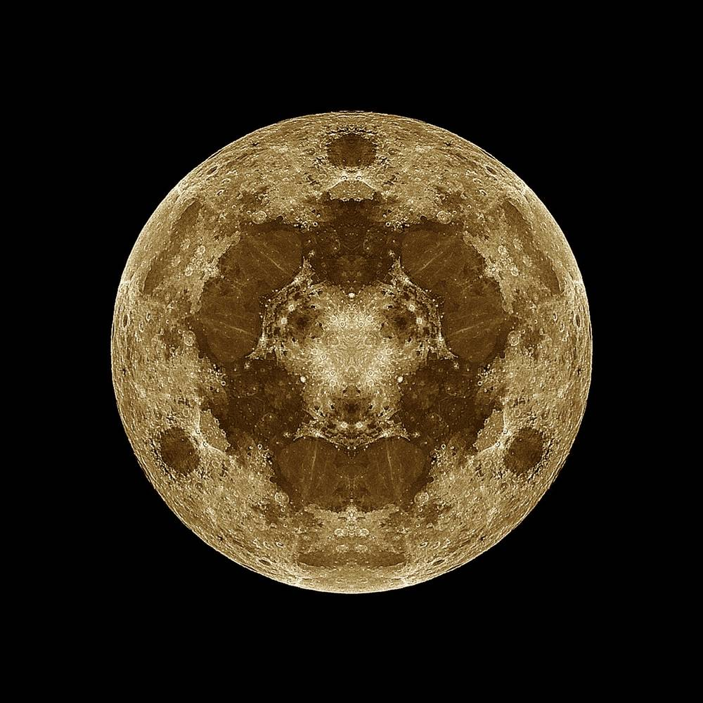 Photography Kaleidoscope Moon 1 by Amber Macgregor