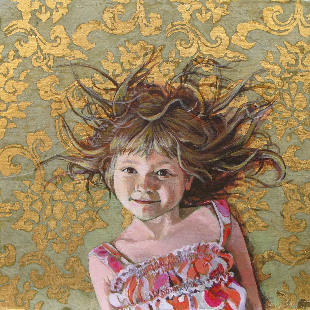 Acrylic painting Bia at 5 years, 2011 by Amber Macgregor