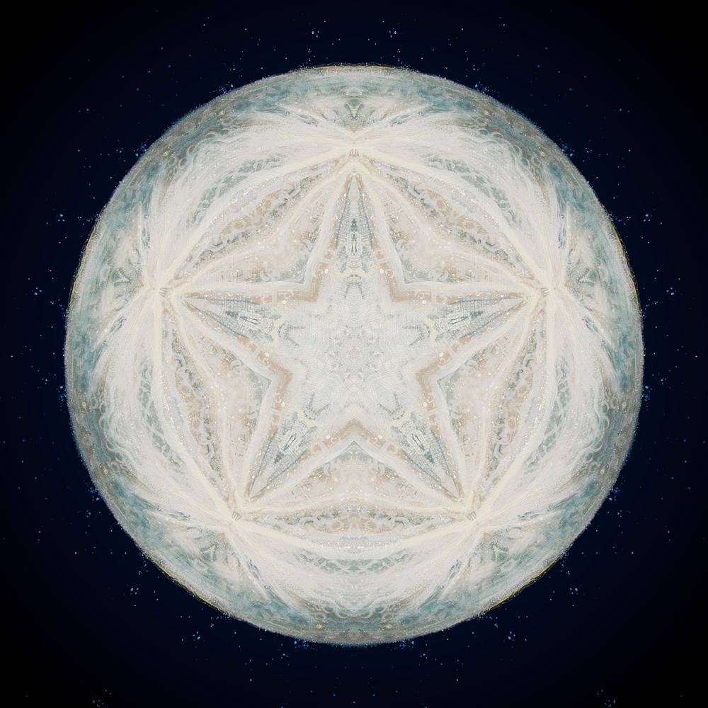 Painting star moon by Amber Macgregor