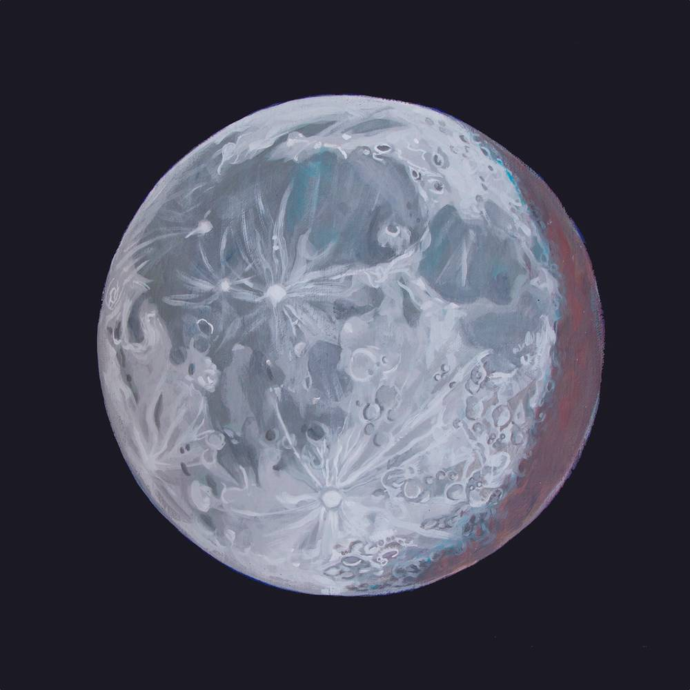 Acrylic painting Moon Portrait 2 by Amber Macgregor