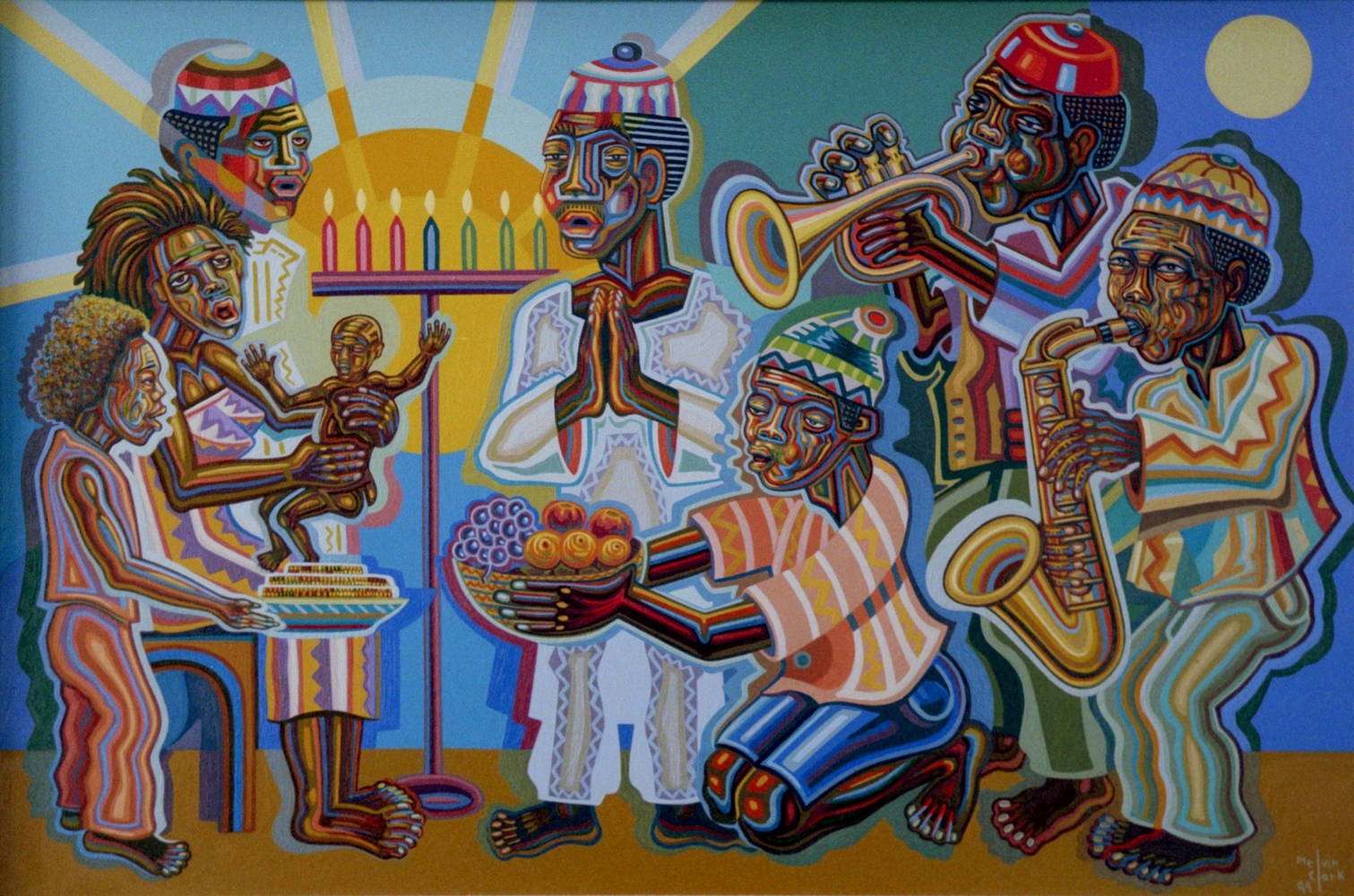 "Oil painting ""Celebration"" by Melvin Clark"