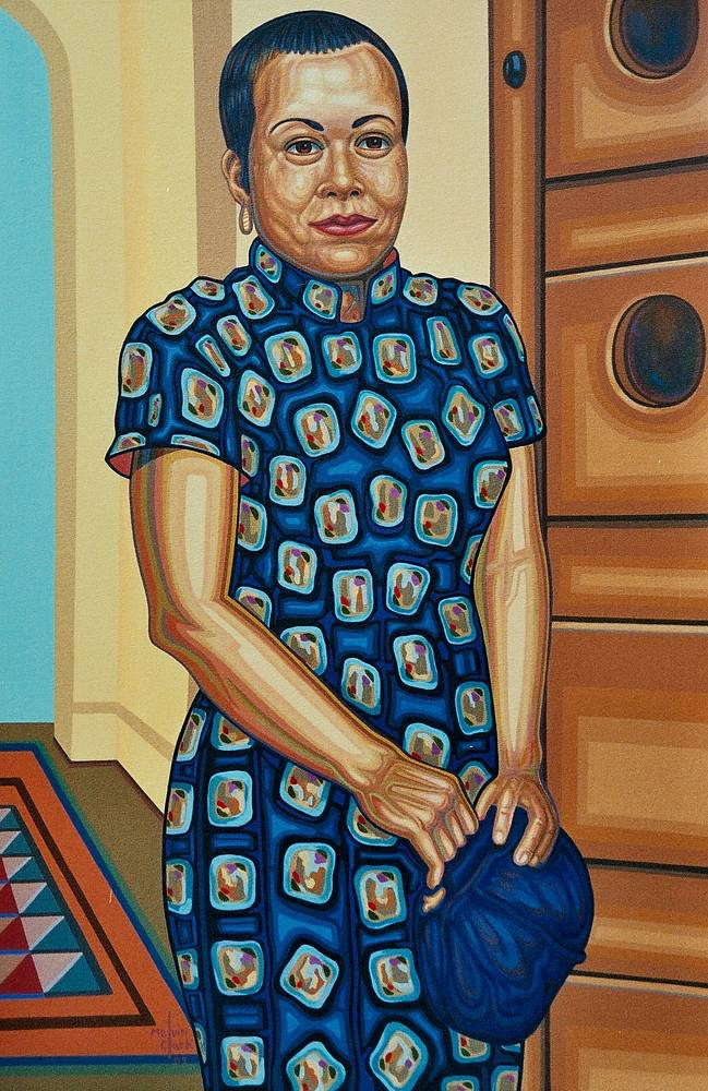 "Oil painting ""Yoshiko"" by Melvin Clark"