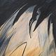 Acrylic painting East Side 1 Crow Series by Lori Sokoluk