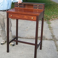 Rosewood slant top standing desk by Ken  Vick