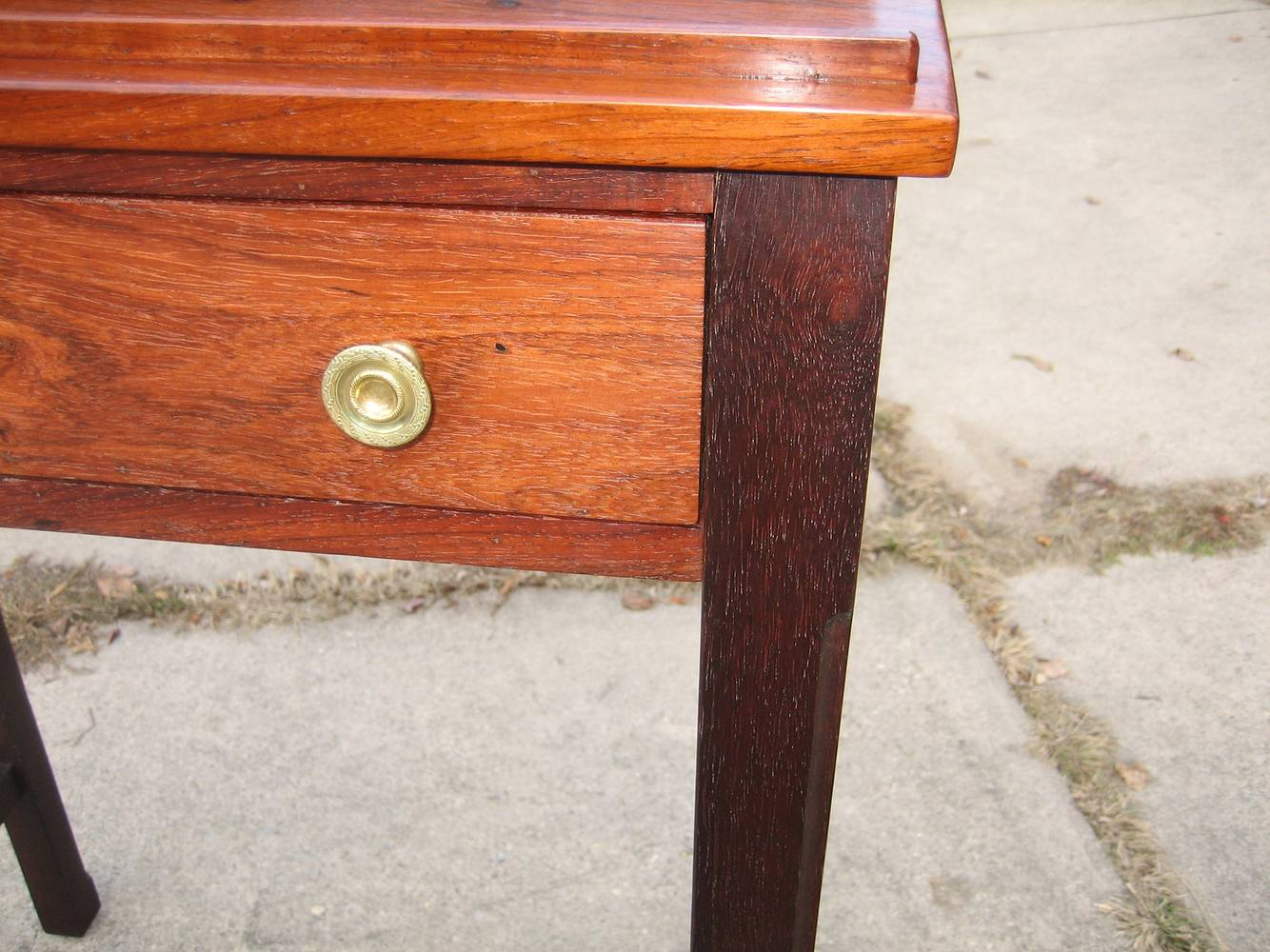 Inset of front drawer opening Rosewood Slant-Top Desk by Ken  Vick