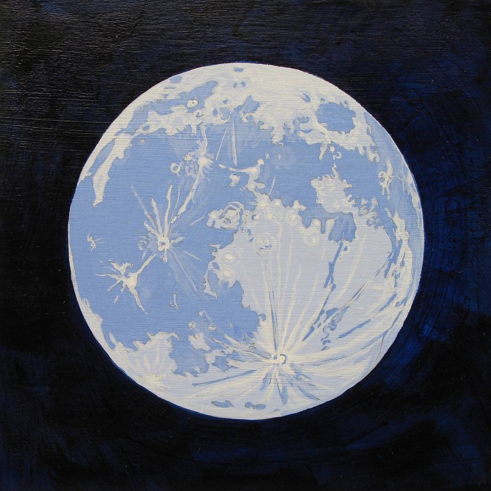 Acrylic painting Blue Moon by Amber Macgregor