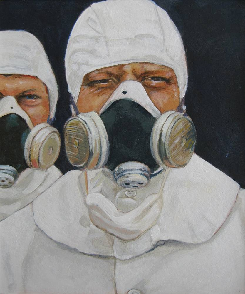 Acrylic painting Good Enough For Chernobyl by Amber Macgregor