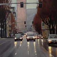 Oil painting Burnside  by Shawn Demarest