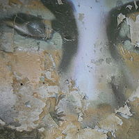 Painting portrait in the dining room deteriorating by Sharon  Hunter