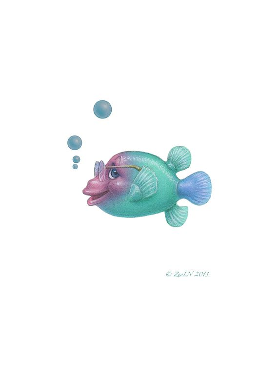 Print Little Fishie Bill by Sue Ellen Brown