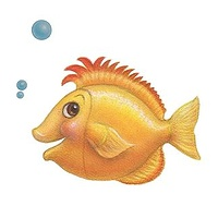 Print Little Fishie Gill by Sue Ellen Brown