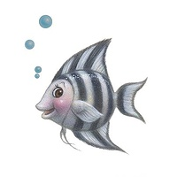 Print Little Fishie Jill by Sue Ellen Brown