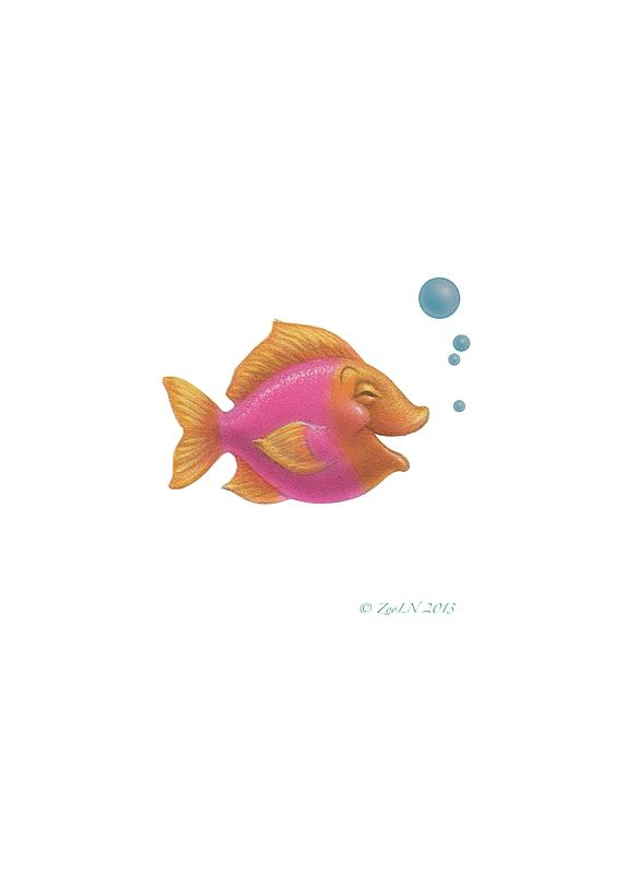 Print Little Fishie Denzill by Sue Ellen Brown