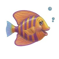 Print Little Fishie Lill by Sue Ellen Brown