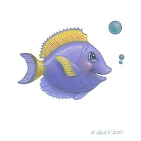 Print Little Fishie Will by Sue Ellen Brown