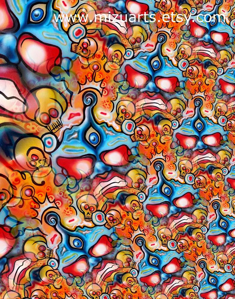 Mask Fractal  by Isaac Carpenter