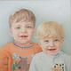 Drawing Twins Baby Picture by Claudette Webb